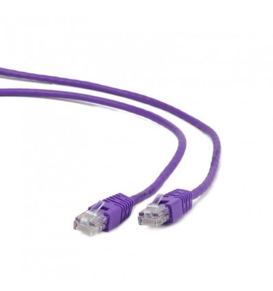 Cable de Red Iggual Cat. 5e 25cm Morado