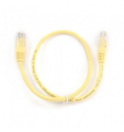 Cable de Red Iggual Cat. 5e 25cm Amarillo