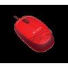 Ratón óptico Logitech M105 en rojo