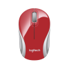 Logitech M187 Wireless Rojo / Blanco